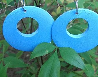 Breezy Blue Hoop Earrings