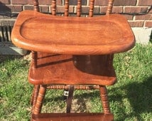 Jenny Lind High Chair Vintage High Chair Custom Painted