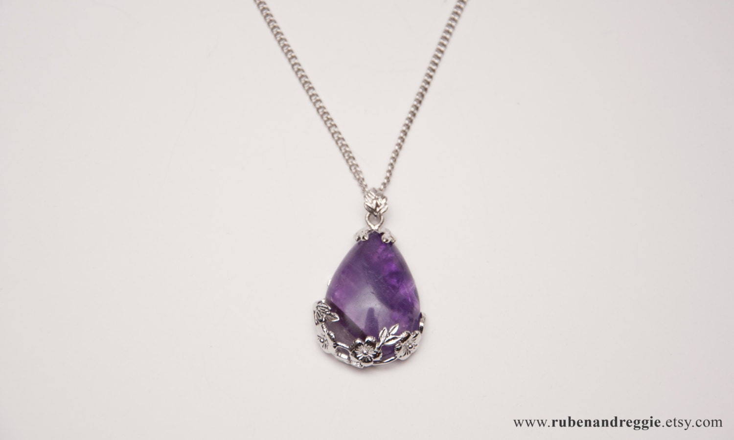 amethyst stone necklace - photo #12