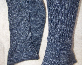 dark blue tweed socks