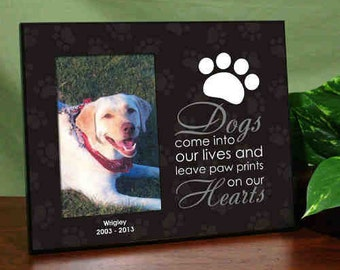 Personalized Pet Memorial Printed Frame