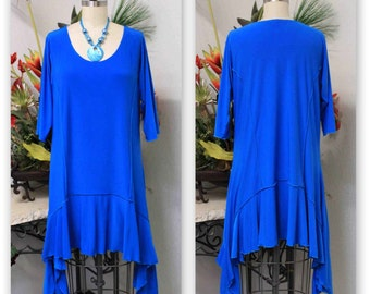 Stylish N Exclusive Crazy cuts long Lagenlook Plus Size and Regular size Tunic Dress. Free Shipping Limited Time