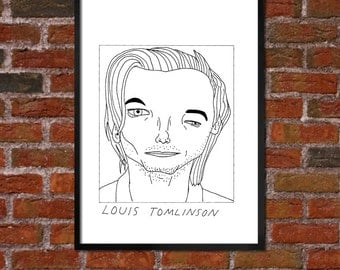 Badly Drawn Louis Tomlinson - One Direction - Poster
