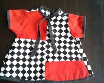 "1960's ""Mod"" Pattern Doll's Dress"