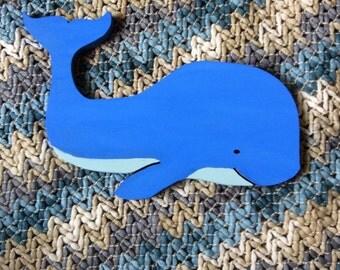 Wood Whale Wall Decor - Wall Art Nursery Decor Home Decor Child's Room Decor