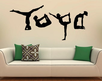 Yoga wall decal Etsy