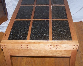 Solid Cherry and Granite Table (Large)