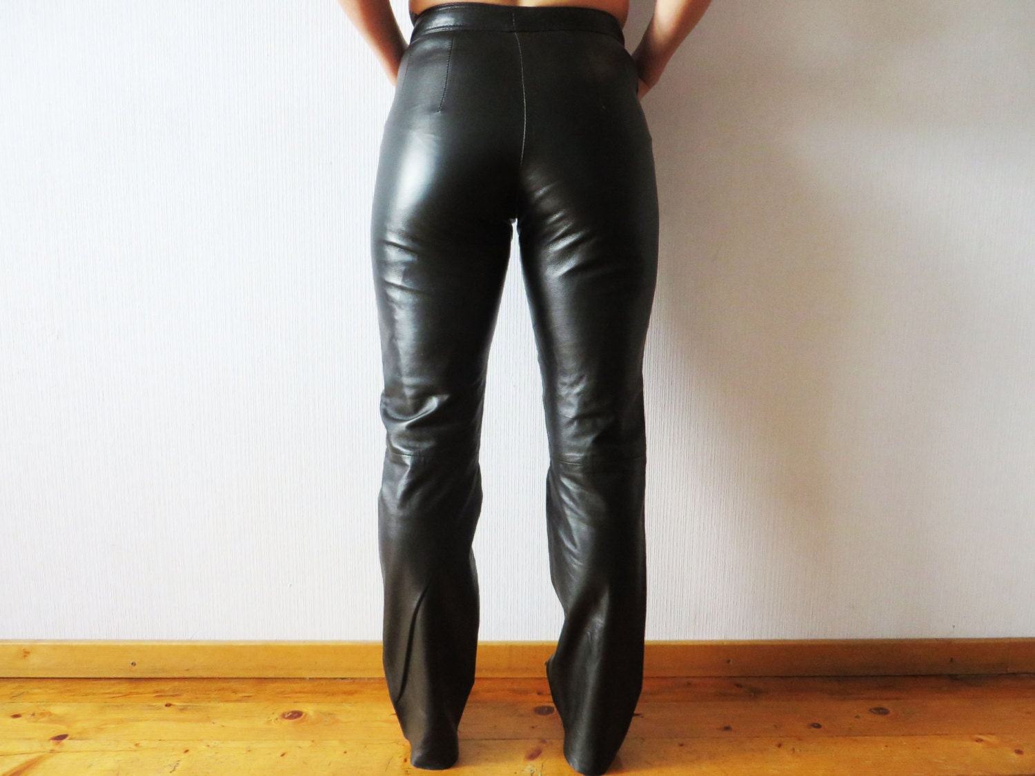 Innovative Balmain Leather Jeans For Women Black  Style Moto Girl
