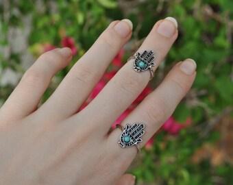 Hamsa Ring // Midi Ring
