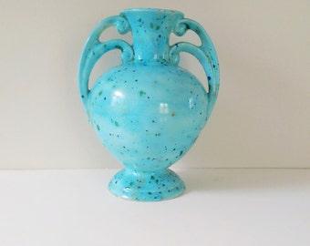 Vintage Vase / Blue Vase / Speckled Vase / Ceramic Vase / Vintage blue / Blue decor