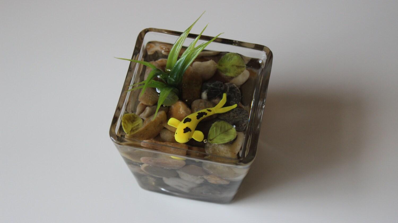 Miniature koi pond in glass bowl fake koi pond polymer clay for Resin koi fish