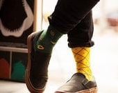 Pineapples Socks   mens socks   casual socks   cool socks   women socks   mismatched   gift socks   patterned socks   charity   fruits socks