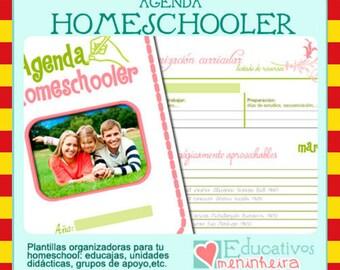 Agenda homeschooler imprimible - catalán-
