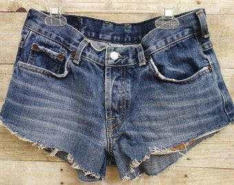 Vintage Lucky Brand Denim Shorts with Button Fly. Vintage, Size Small, From the 1990's.