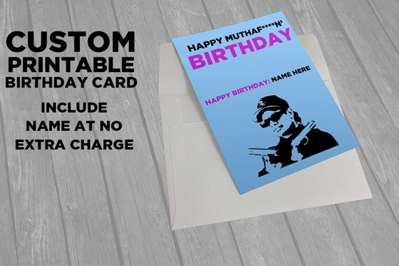Hip Hop   Druckbare Eazy E Card   Geburtstag Lustig