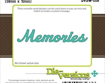 """Die-Versions Sweet Wordlets Die """"Memories"""" Die"""