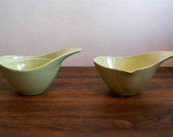 Gorgeous 1950's Monterey Pottery sugar bowl and creamer set