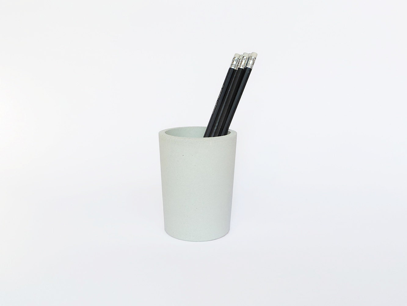 White Concrete Pencil Holder Pencil Cup Pencil Holder