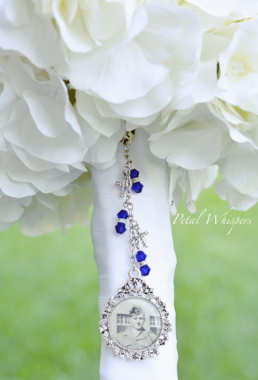 something blue bridal bouquet charm bridal bouquet picture