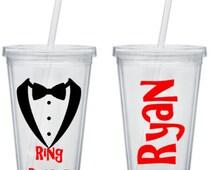 Ring Bearer Tumbler, Ring Bearer Cup, Ring Bearer Gift, Personalized Ring Bearer Tumbler