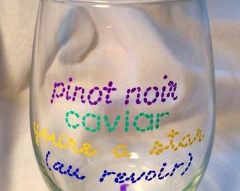 Titus Andromedon's Pinot Noir Glass