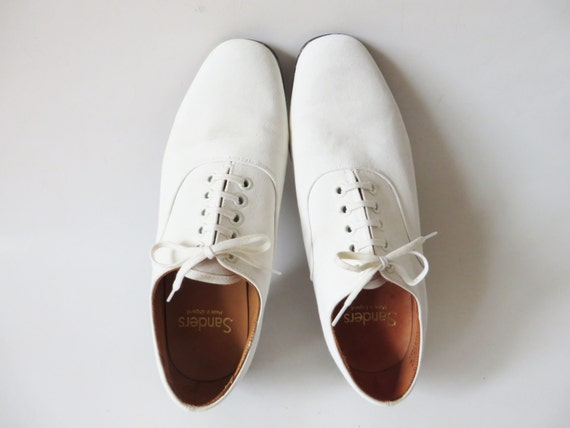 Items Similar To WHITE SANDERS CANVAS Derby Shoes Beach Summer Wedding Groom Brogues Retro