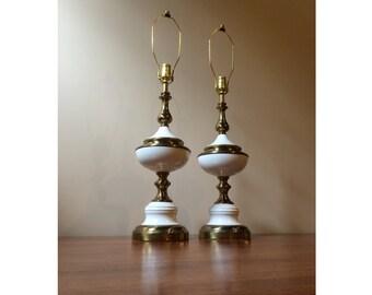 Brass Enamel Lamp Etsy