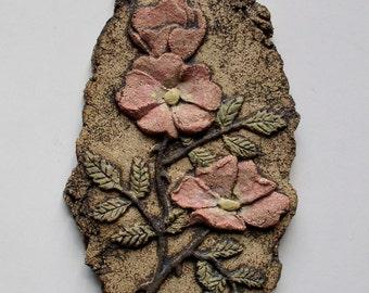 Rose - Ceramic Wall Plaque