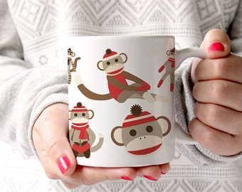 Coffee Mug Sock Monkey Coffee Cup