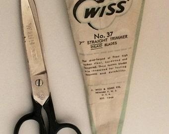 Wiss 1960's No. 37 7' inch Straight Trimmer Inlaid Blade.