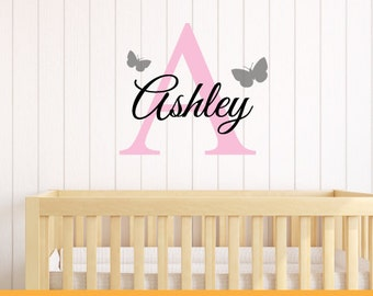 Personalised Name & Alphabets | Home Nursery Office Kids Custom Quotes | Removable Wall Decal Sticker | MS176VC
