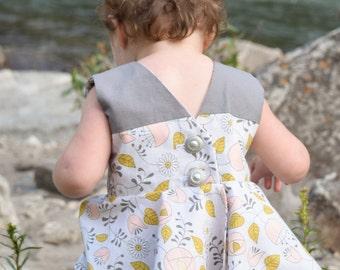 Toddler Grey Peplum Top Baby Shirt 6-12 Months
