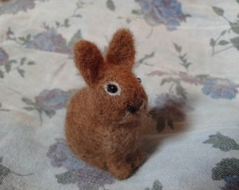 READY TO SHIP Needle Felted Bunny Miniature Cream Bunny Rabbit Soft Sculpture