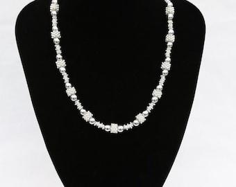 Silver-plated necklace, unique design, versatile, magnetic clasp on necklace, UK shop