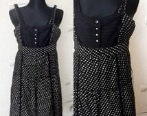 Dress vintage boho hippie fashion clothing small waist with Glitter mbym size XS Lamborghini style Made in India Rayon / Lurex
