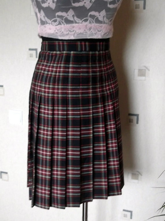 vintage tartan skirt womens skitrs elegants midi
