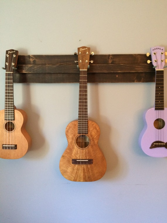 Wooden Ukulele Wall Hanger Also Great For A Mix Of Ukulele