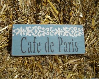 Cafe de Paris Sign