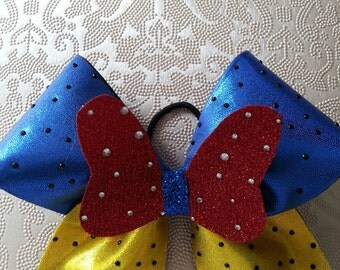 Disney Inspired Snow White Cheer Bow