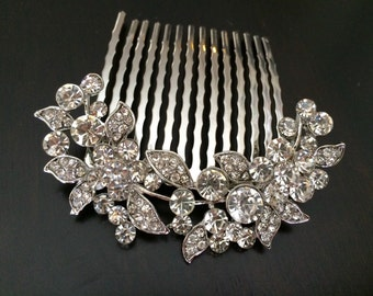 bridal comb, wedding hair comb, wedding comb, bridal hair comb, wedding hair accessories, vintage comb, crystal comb, decorative comb