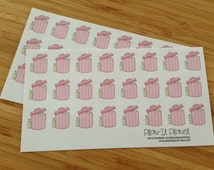 Pink Trash Can Planner Stickers - PP002