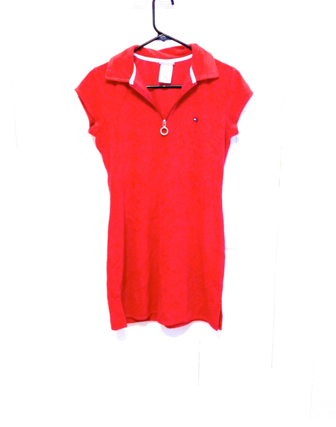 90s tommy hilfiger red terrycloth minidress. Black Bedroom Furniture Sets. Home Design Ideas