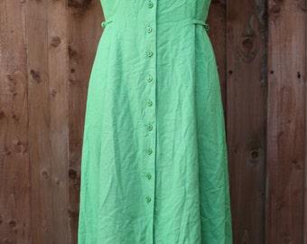Lime Green Button Down Maxi Dress