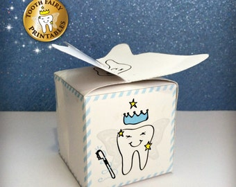 Tooth Fairy box, Lost tooth box for boys, Printable tooth box, DIY thooth fairy box for kids, printable lost teeth box, Instant download.