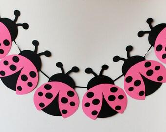 Lady Bug Banner, Lady Bug Birthday Party Ideas, Lady Bug Birthday Banner,  Party Decorations, Lady Bug Party, Lady Bug Garland