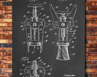 Corkscrew Patent Print Art 1930