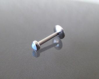 3 Stück labret glitzer piercing innengewinde bioflex 12mm