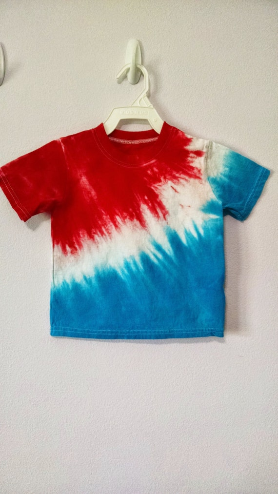 3t red white and blue tie dye t shirt. Black Bedroom Furniture Sets. Home Design Ideas