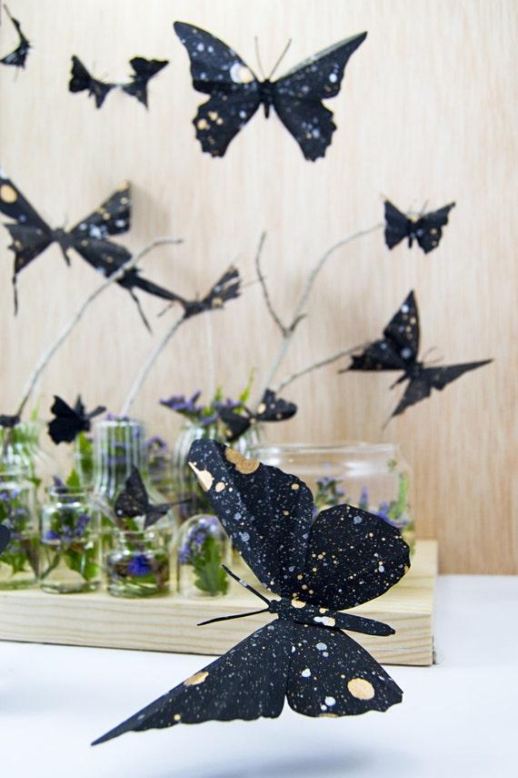 Mariposas 3d de papel pintado a mano galaxia da por - Papel pintado a mano ...