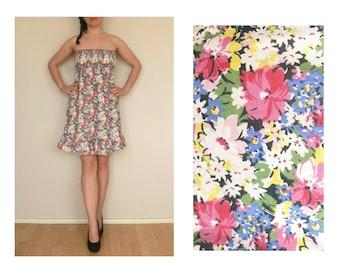 Floral dress vintage 90s grunge